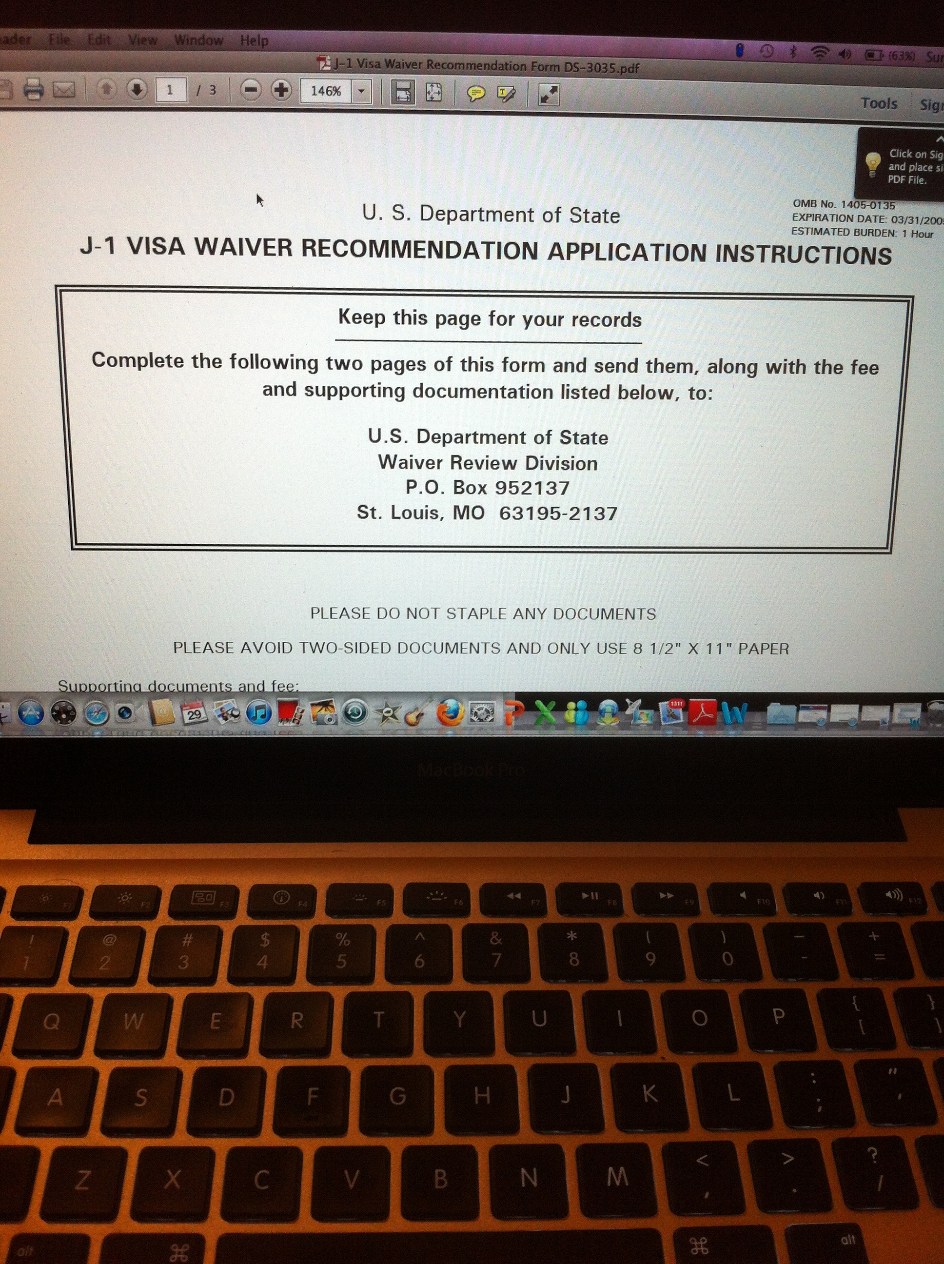 J Waiver Statement Of Reason Sample Letter